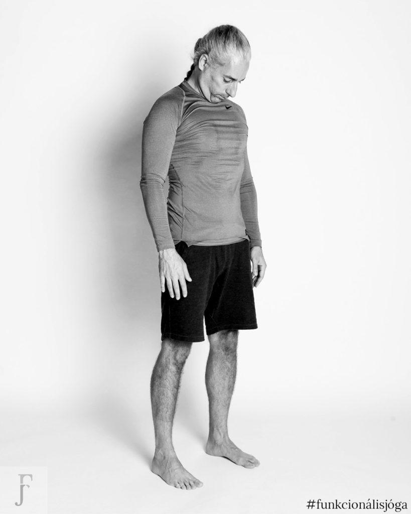 állva nyaki előre hátra hajtás gerincgyakorlat nyakfájásra nyaki gerinctorna nyaki fájdalom nyakgyakorlat jóga gyakorlat nyakfájásra 2
