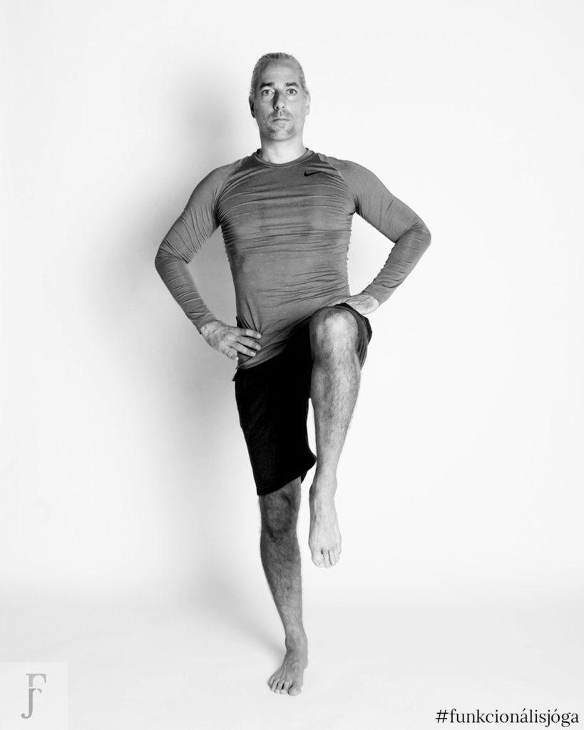 egyperces jógagyakorlat csípőfájdalom ellen állva csípőízületi kimozgatás 3