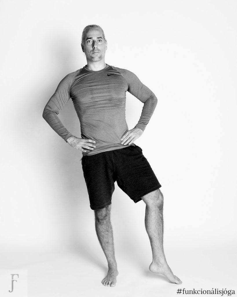 egyperces jógagyakorlat csípőfájdalom ellen állva csípőízületi kimozgatás 4